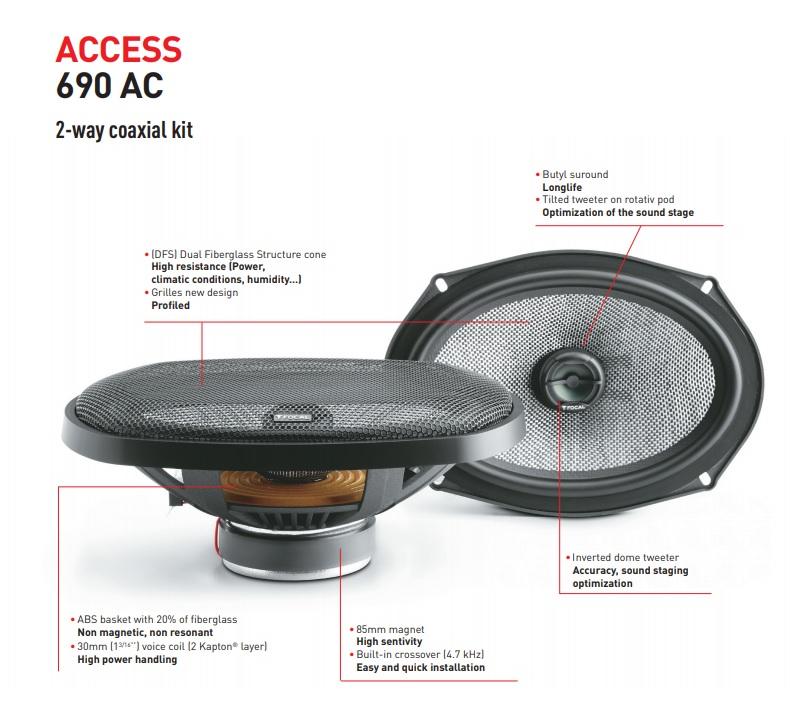 Focal Access 690 AC car speakers